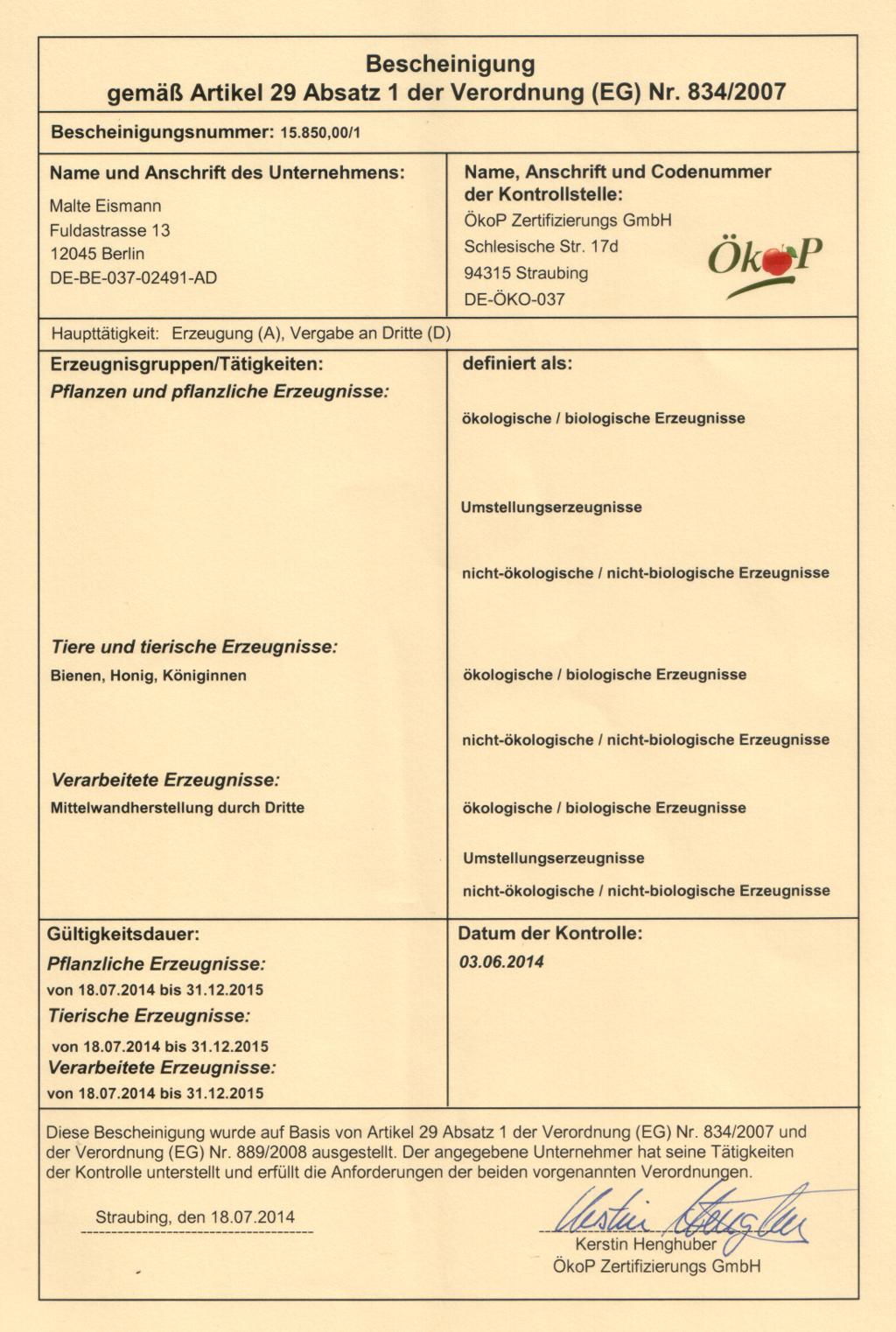 Gesundheitszeugnis Berlin